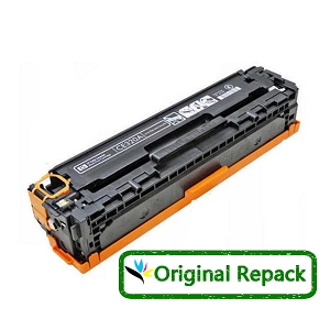 Original Repack HP 128A CE320A Black Laser Toner Cartridge Color LaserJet CP1525nw, Pro CM1415fnw, Pro CP1525nw