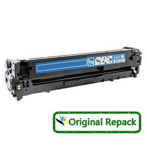 Original Repack HP 128A CE321A Cyan Laser Toner Cartridge Color LaserJet CP1525nw, Pro CM1415fnw, Pro CP1525nw