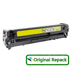 Original Repack HP 128A CE322A Yellow Laser Toner Cartridge Color LaserJet CP1525nw, Pro CM1415fnw, Pro CP1525nw