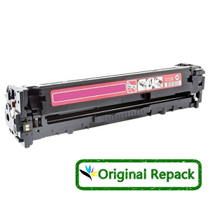 Original Repack HP 128A CE323A Magenta Laser Toner Cartridge Color LaserJet CP1525nw, Pro CM1415fnw, Pro CP1525nw