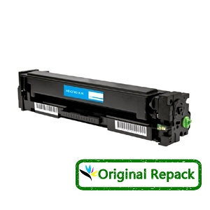 Original Repack HP 201X CF401X Cyan High Yield Toner Cartridge Color LaserJet Pro M252, MFP M277