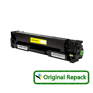 Original Repack HP 201X CF402X Yellow High Yield Toner Cartridge Color LaserJet Pro M252, MFP M277