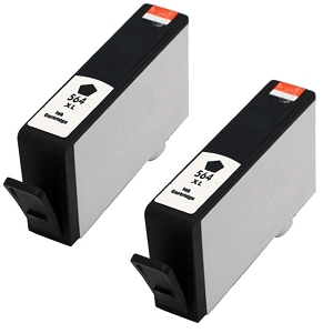 2 Pack HP 564XL CN684WN Black Compatible High Yield Ink Cartridge