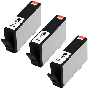 3 Pack HP 564XL CN684WN Black Compatible High Yield Ink Cartridge
