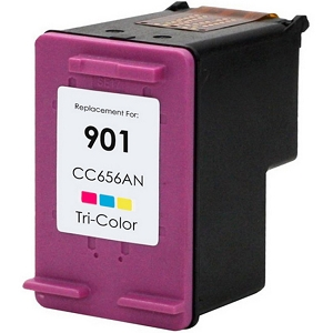 HP 901 CC656AN Tri-Color Inkjet Cartridge OfficeJet 4500, G510, J4524, J4525, J4540, J4680