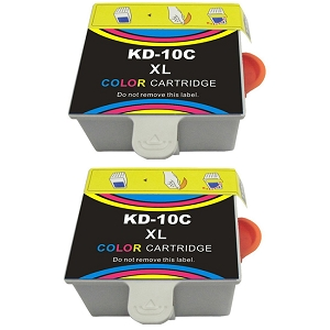2 Pack Kodak 10XL 8966 1810829 8946501 Color Compatible High Yield Ink Cartridge
