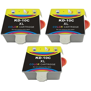 3 Pack Kodak 10XL 8966 1810829 8946501 Color Compatible High Yield Ink Cartridge