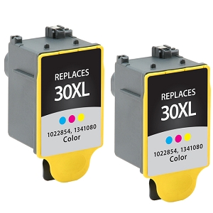 2 Pack Kodak 30XL 1341080 Color Compatible High Yield Ink Cartridge