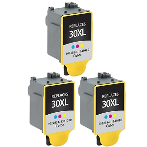 3 Pack Kodak 30XL 1341080 Color Compatible High Yield Ink Cartridge