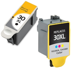 2 Pack Kodak 30XL 1550532 Black 1341080 Color Compatible High Yield Ink Cartridges
