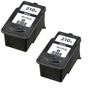 2 Pack Canon PG210XL PG-210XL 2973B001 Black Compatible Inkjet Cartridge