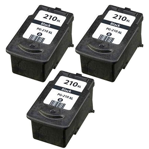 3 Pack Canon PG210XL PG-210XL 2973B001 Black Compatible Inkjet Cartridge