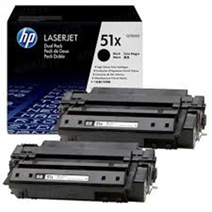 2 Pack Brand New Original HP 51X Q7551XD Black High Yield Laser Toner Cartridge M3027, M3035, P3005