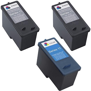 3 Pack Dell Series 11 CN594 Black CN596 Tri-Colour V505 V505w 948 Remanufactured Ink Cartridges