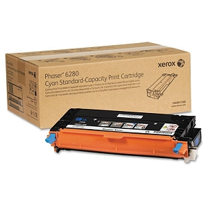 Brand New Original Xerox Phaser 6280 106R01388 Cyan Standard Yield Laser Toner Cartridge