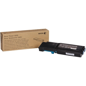 Brand New Original Xerox 106R02241 Cyan Toner Cartridge for Phaser 6600 WorkCentre 6605