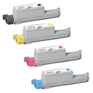 4 Pack Xerox 106R01218 106R01219 106R01220 106R01221 High Yield Laser Toner Cartridges Phaser 6360