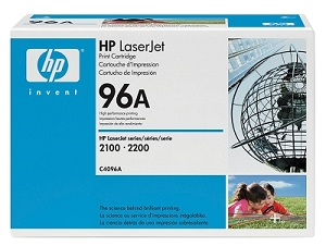 Brand New Original HP 96A C4096A Black Toner Cartridge LaserJet 2100, 2200