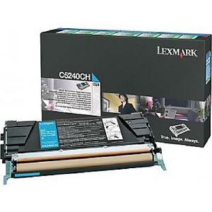 Brand New Original Lexmark C5240CH Cyan High Yield Return Program Toner Cartridge C524, C532, C534