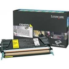 Brand New Original Lexmark C5240YH Yellow High Yield Return Program Toner Cartridge C524, C532, C534