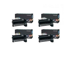 4 Pack Lexmark C772 KX/CX/MX/YX X772E Extra High Yield Laser Toner Cartridges