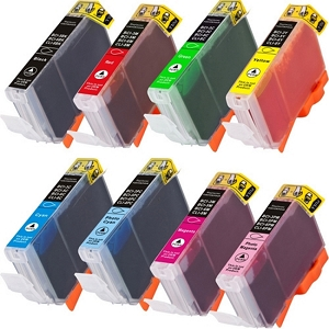 8 Pack Canon CLI-8 0620B015 PIXMA 6500 PIXMA iP5200 Series Compatible Inkjet Cartridges