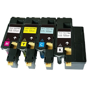 4 Pack Dell  1250, 1350, 1355, C1760, C1765 High Yield Laser Toner Cartridges