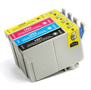 4 Pack Epson T125 T125120 T125220 T125320 T125420 Inkjet Cartridges