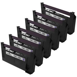 Epson ERC-30 ERC-34  ERC-38  Black POS Ribbon  (6 Pack)