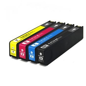 4 Pack HP 972A PageWide 352, 377 PageWide Pro 452, 477, 552, 557 PageWide Ink Cartridges