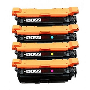 4 Pack HP Color LaserJet CP4025, CP4525 Laser Toner Cartridges