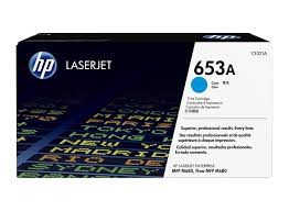 Brand New Original HP 653A CF321A Cyan Toner Cartridge Color LaserJet Enterprise MFP M680z, M680dn, M680f