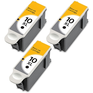 3 Pack Kodak 10XL 8965 1215581 8237216 Black Compatible High Yield Ink Cartridge