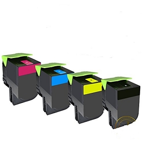 4 Pack Lexmark  CS417, CX417, CS517, CX517 Compatible Toner Cartridges