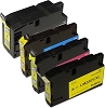 4 Pack Lexmark 200XL OfficeEdge Pro4000, Pro5500 Compatible Remanufactured High Yield Ink Cartridges