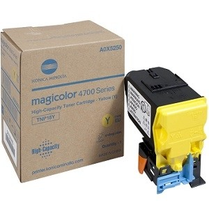 Brand New Original Konica Minolta TNP18 A0X5230 TNP18Y Yellow Laser Toner Cartridge MagiColor 4750, 4750DN, 4750EN