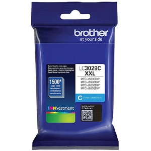 Brand New Original Brother LC3029 LC3029XXLC Cyan Extra High Yield Ink Cartridge MFC-J5830, MFC-J5930, MFC-J6535, MFC-J6935