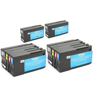 10 Pack HP 950XL Black 951XL C/M/Y OfficeJet Pro 8600 Plus 8600 Premium 8600A 8610 8615 8620 8625 8630 Compatible High Yield Inkjet Cartridges