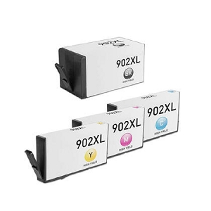 4 Pack HP 902XL High Yield Ink Cartridges