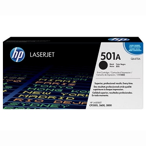 Brand New Original HP 501A Q6470A Black Laser Toner Cartridge Color LaserJet 3600, 3800, CP3505