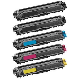5 Pack Brother TN221 TN-225 TN225 High Yield Laser Toner Cartridges