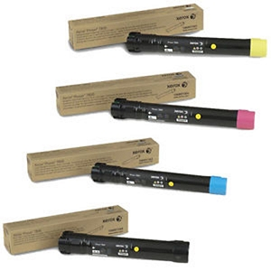 4 Pack Brand New Original Xerox  Phaser 7800 High Yield Toner Cartridges