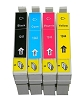 4 Pack Epson 124 BK/C/M/Y WorkForce 320, 323, 325, 435 Inkjet Cartridges