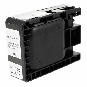 Epson T580100 Compatible Photo Black Ink Cartridge Pigment