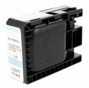 Epson T580500 Compatible Light Cyan Ink Cartridge Pigment