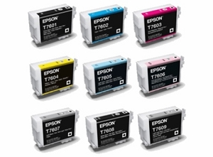 9 Pack Brand New Original Epson 760 SureColor P600 Wide Format Ink Cartridges