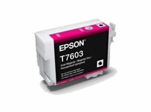 Brand New Original Epson 760 T760320 Vivid Magenta Ink Cartridge SureColor P600 Wide Format