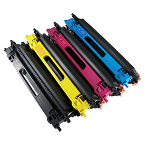 Brother  TN-115 TN115 / TN110 TN-110 4 Pack Black Yellow Cyan Magenta Toner Cartridge TN110 TN-110