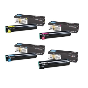 4 Pack Lexmark X945X2 KG/CG/MG/YG X940e, X945e Original High Yield Toner Cartridges