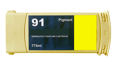 HP 91 C9469A Yellow Pigment Remanufactured Inkjet Cartridge DesignJet Z6100, DesignJet Z6100PS
